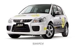 「SX4?FCV」は、GM製の高性能燃料電池に、スズキが開発した700気圧の高圧水素タンクと、制動時のエネルギー回収や加速時のアシストをする、軽量・コンパクトなキャパシターの採用により走行性能を向上させた燃料電池自動車である。国土交通大臣認定を取得、公道の試験走行データを収集し、実用化に向けた開発を進めている。